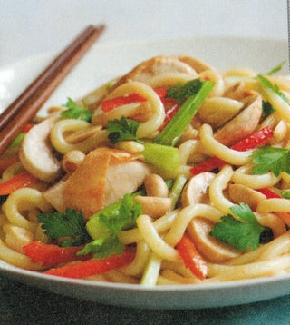Warm Chinese and Hokkien Noodle Salad