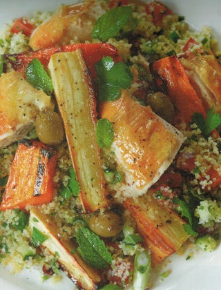 Tabbouleh with Chicken and Roast Vegetables