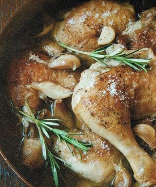 Garlicky Chicken Braise