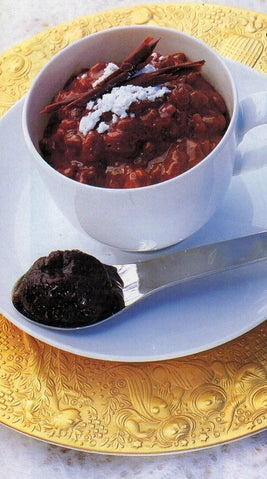 Chocolate Risotto With Rum And Tea-soaked Prunes