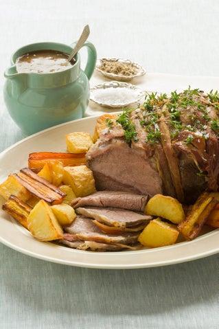 Cross-cut blade pot roast with Madeira gravy