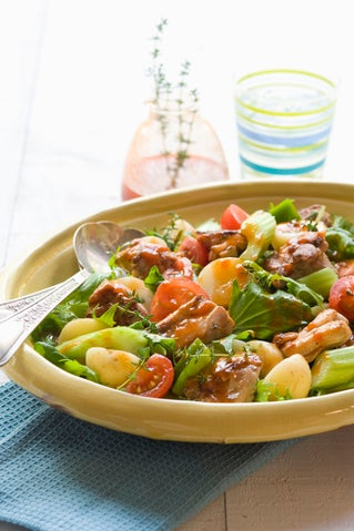 Warm Creole chicken salad