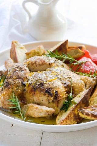 Lemon and rosemary roast chicken