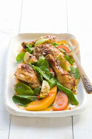Tahitian-style chicken salad