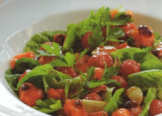 Chargrilled cherry tomato salad