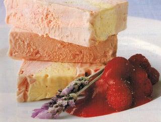 Raspberry and lavender ice cream terrine