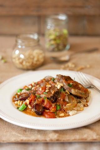 Lamb and pinenut stew