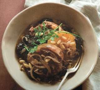 Lamb braise with prunes and oranges