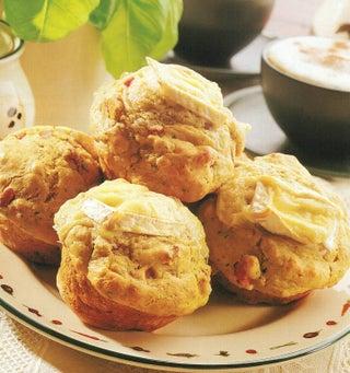 Pesto and ham muffins