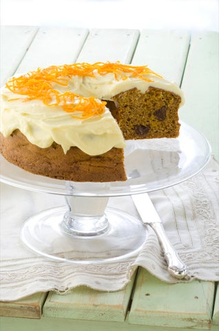 Pumpkin and prune cake