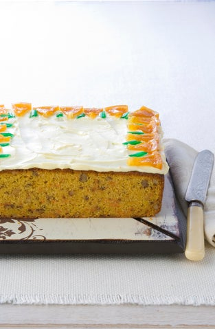 Carrot cake with honey cream cheese icing