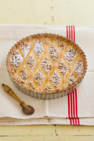 Pine nut custard tart