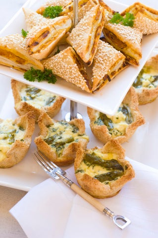 Asparagus, tarragon and feta tartlets
