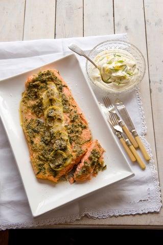Lemon-crusted salmon