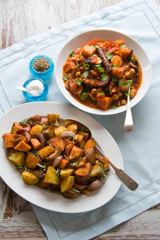 Moroccan baked vegetables