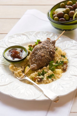 Date and lemon couscous salad with lemon dressing