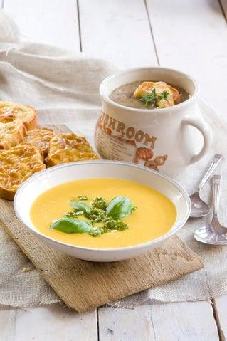 Mushroom and port soup