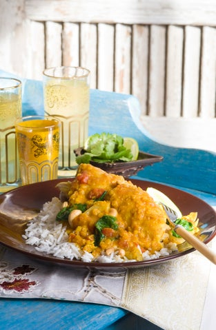 Chicken and lentil curry