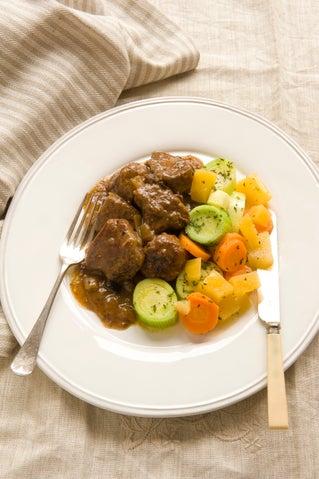 Dorset steak and sausage stew