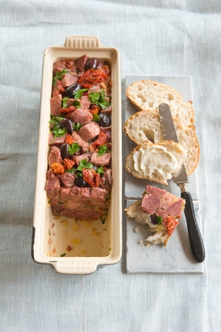 Tuscan ox tongue terrine - slow cooker method
