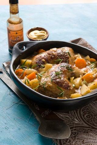 Sweet devilled chicken casserole