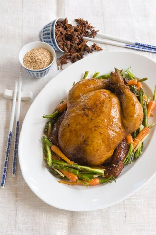 Soy and star anise braised chicken