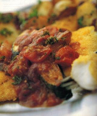 Polenta Crusted Fish Fillets With Grilled Summer Vegetables