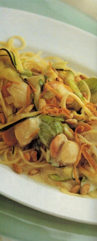 Pasta Seafood With Pinenuts