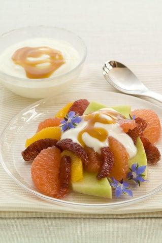Orange blossom fruit salad