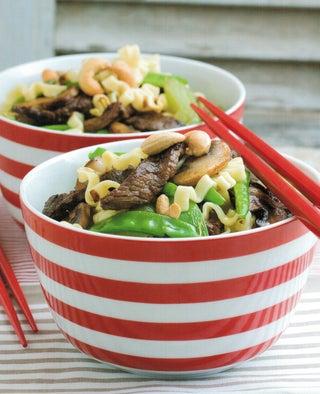 Black bean beef stir-fry