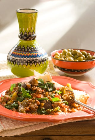 North African vegetable and lentil stew