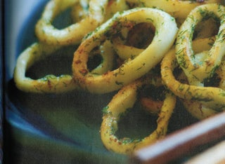 Dill and garlic calamari with Nuoc Cham