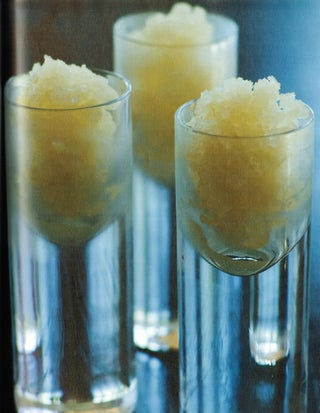 Lychees and ginger ice