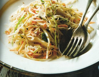 Middle Eastern coleslaw with cumin and dill mayonnaise
