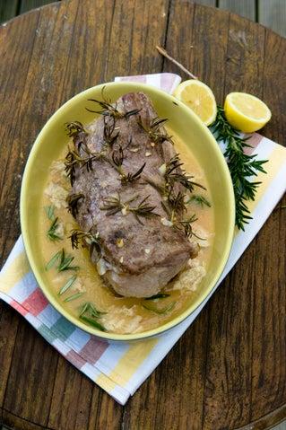 Linda's Gran's milk-baked pork