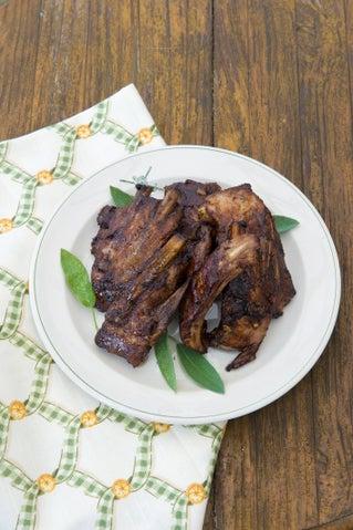 Sticky chilli-glazed pork spare ribs