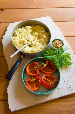 Risotto-stuffed capsicums