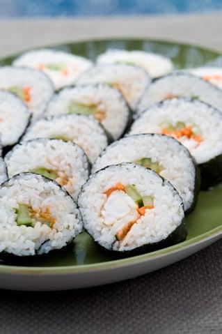 Californian kina sushi rolls