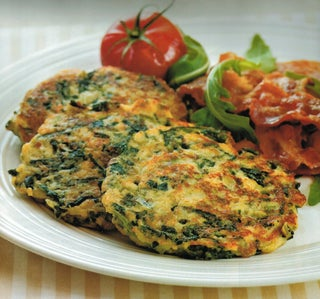 Spinach and gruyere fritters