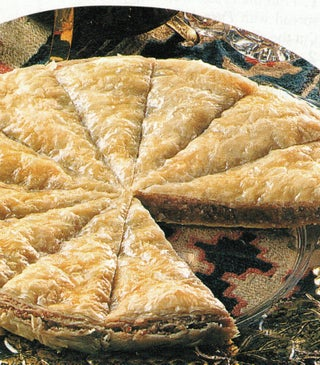 Pecan honey baklava