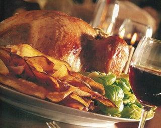 Balsamic glazed turkey with pinenut and shallot relish