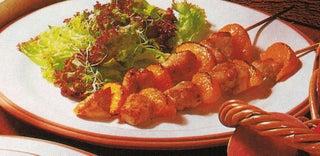 Chicken kebabs in coriander