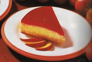 Peach Melba parfait cake