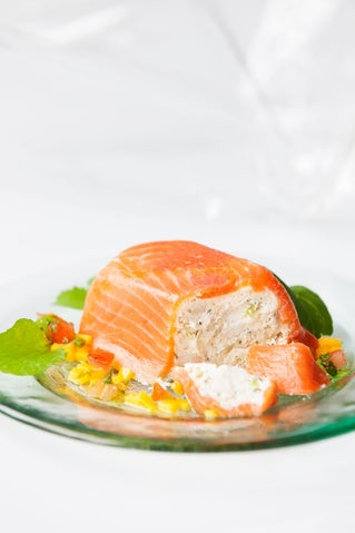 Smoked Salmon And Crab Parcels