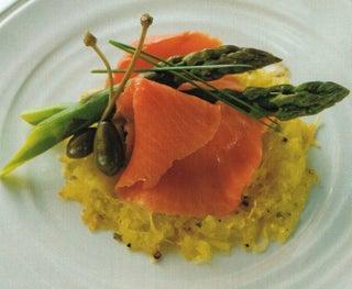 Smoked salmon and gruyere rosti