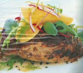 Mango and basil salad