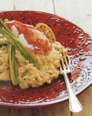 Classic wine risotto with fennel and lemon