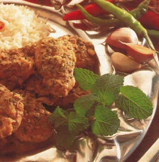 Chicken curry with mint and yoghurt