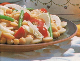 Lima bean and chick pea salad