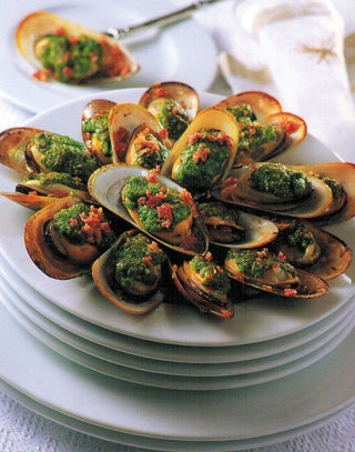 Parsley Crusted Mussels
